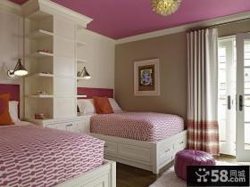 粉色系儿童房装修效果图大全2014图片