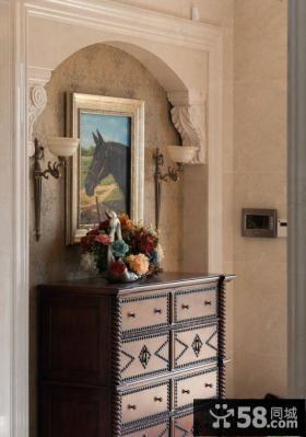 欧式风格玄关装饰画图片