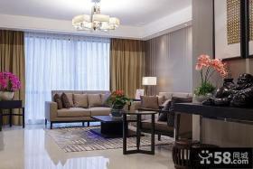 中式简约风格客厅装修设计图片