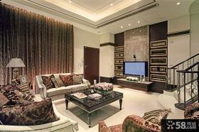 新古典装修设计客厅电视背景墙效果图大全