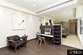 简约风格复式楼开放式书房装修图片