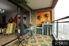 东南亚田园风格家庭阳台图片