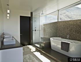 简约小复式卫生间房装修效果图大全2012图片