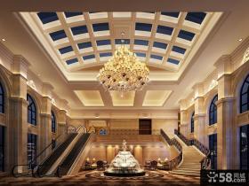 豪华别墅客厅楼梯设计图