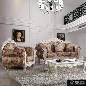 别墅客厅欧式沙发图片