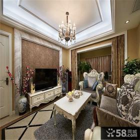 欧式装饰客厅电视背景墙效果图
