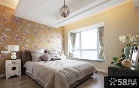 欧式田园风格装修卧室设计效果图