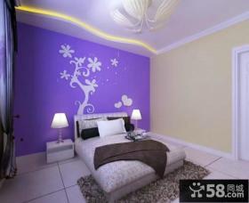 淡紫色卧室颜色搭配