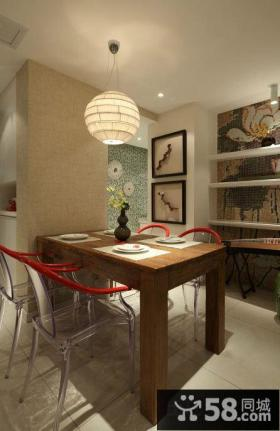 新中式风格餐厅led吊顶灯效果图