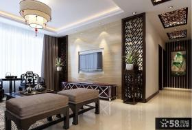 优质中式客厅电视背景墙效果图