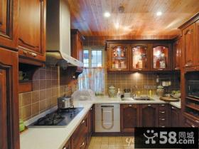 美式乡村厨房装修效果图 - 业之峰装饰