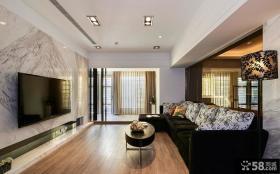 现代两室一厅设计装修效果图