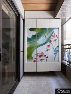 现代日式阳台装修效果图