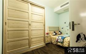白松木儿童衣柜图片