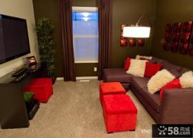 小户型小客厅电视背景墙效果图