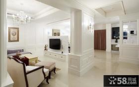 欧式别墅家装客厅小电视背景墙装修效果图