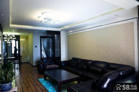 现代中式风格客厅吊顶装修效果图大全