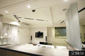 小户型客厅天花板吊顶设计