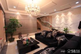 现代风格别墅客厅吊顶装修效果图大全