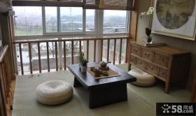 日式家装室内设计阳台榻榻米图片
