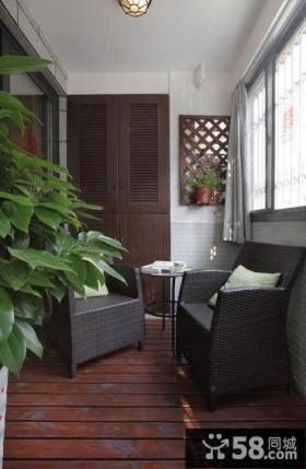 简单家庭封阳台装修设计
