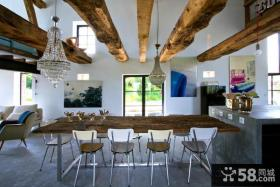 复式房子装修 餐厅装修效果图