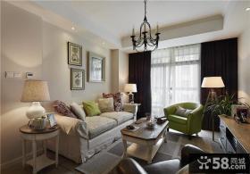 美式田园风格小户型客厅图片
