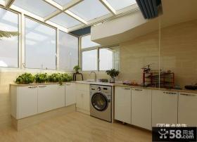 田园风格阳台厨房装修图片欣赏