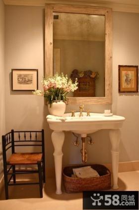 美式风格洗手间装修效果图 小户型洗手间装修效果图大全2012图片