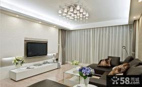 现代简约客厅硅藻泥电视背景墙效果图