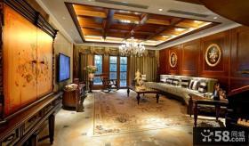 古典欧式家居客厅吊顶装修设计