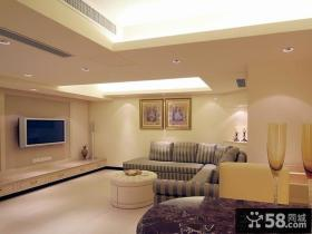 现代客厅电视背景墙装修图