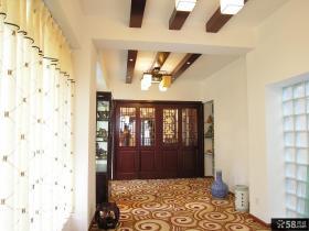 中式家庭过道吊顶装修设计
