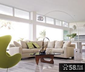 简约风格打造三居客厅飘窗装修效果图大全2014图片