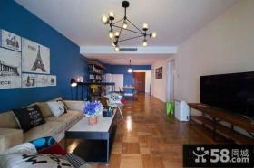 地中海设计室内客厅电视背景墙图片