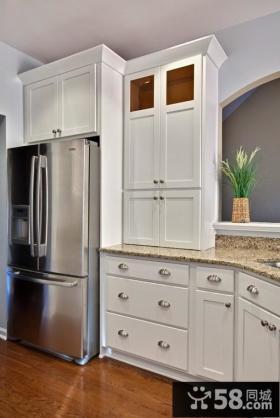 欧式开放式厨房橱柜装修效果图欣赏