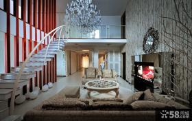 欧式别墅客厅电视背景墙效果图欣赏