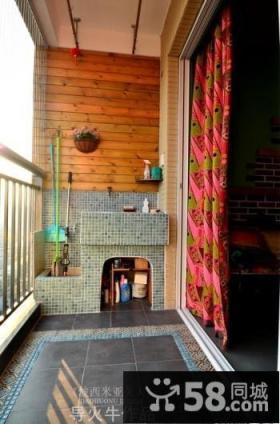2013客厅阳台窗帘装修效果图