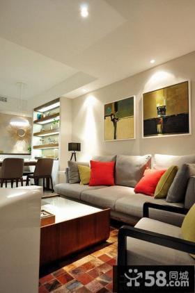 优质简约客厅沙发墙装饰画图片