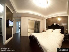 欧式主卧室带卫生间效果图