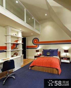 欧式简约卧室装修效果图大全2014图片 复式顶层阁楼卧室装修效果图