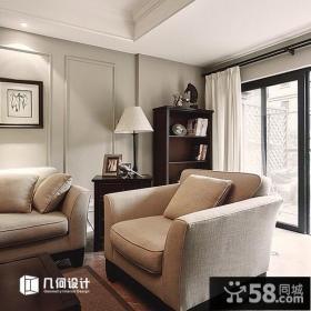 美式风格家居客厅家具沙发椅图片