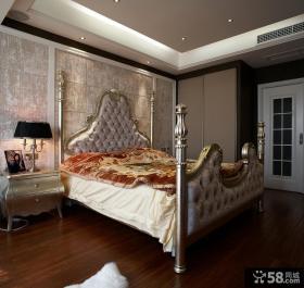 欧式新古典卧室床头背景墙装修效果图
