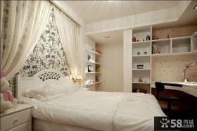 简欧卧室床头背景墙效果图