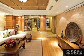 东南亚复式客厅图片欣赏