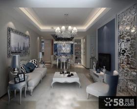 110平米美式风格两室两厅装修效果图大全