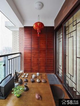 中式风格阳台装修效果图欣赏