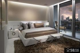现代主卧室装修效果图 卧室阳台装修效果图