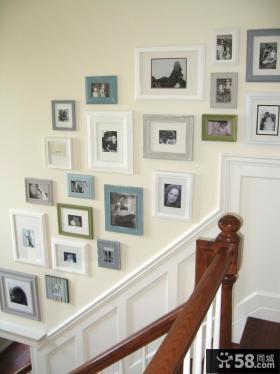 楼梯间欧式照片墙装修效果图