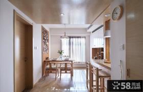 日式简约餐厅走廊吊顶装修